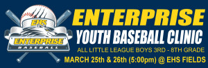 Enterprise Youth Baseball Clinic (March 25 & 26) @ 5pm