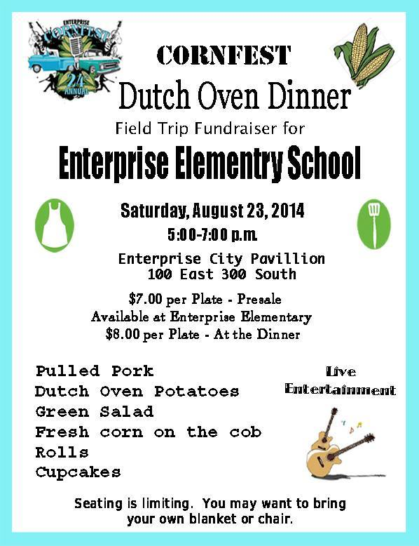 Cornfest Dutch Oven Dinner (Sat. Aug 29) 4:30-6:30-m