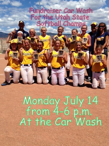 Fundraiser Car Wash for Softball Champs July 14, 4-6pm