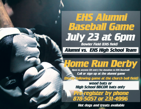 EHS Alumni Baseball Game and Home Run Derby (July 23)