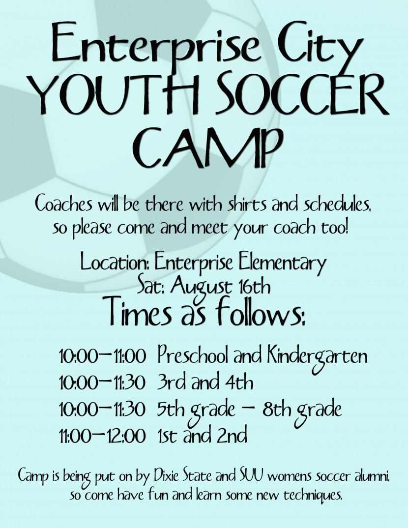 Youth Soccer Camp (August 16th)
