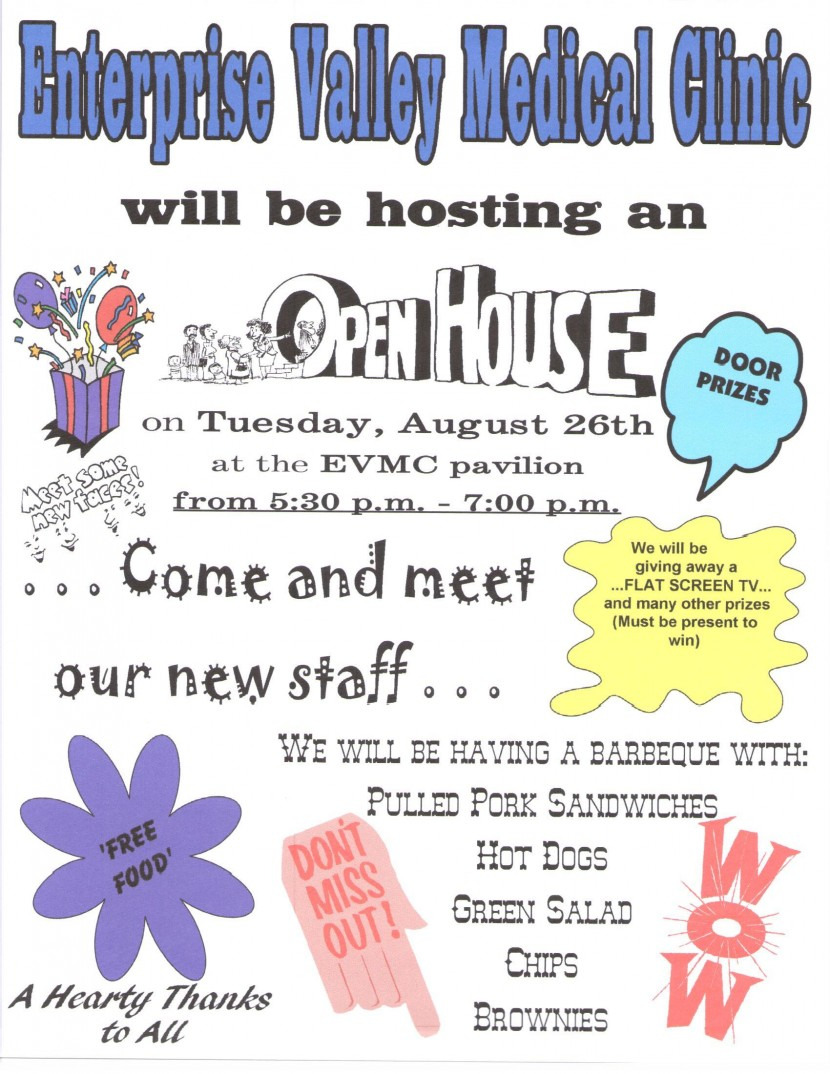 EVMC Open House BBQ (Aug 26)