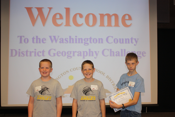 District Geography Challenge Winners