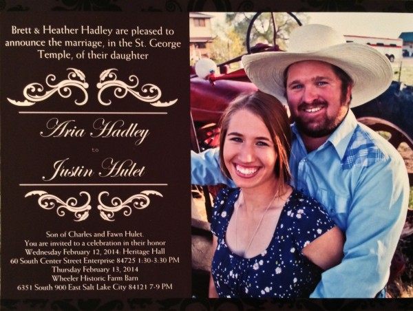 Aria and Justin Hulet -February 12 (1:30-3:30pm)