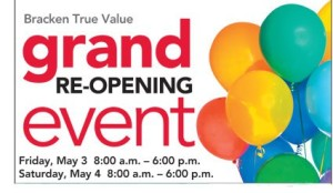 Brackens Grand Re-Opening Event May 3 & 4 (Prizes Galore)