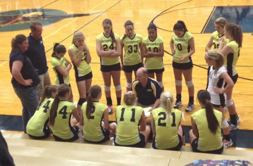 EHS Volleyball Downs Another