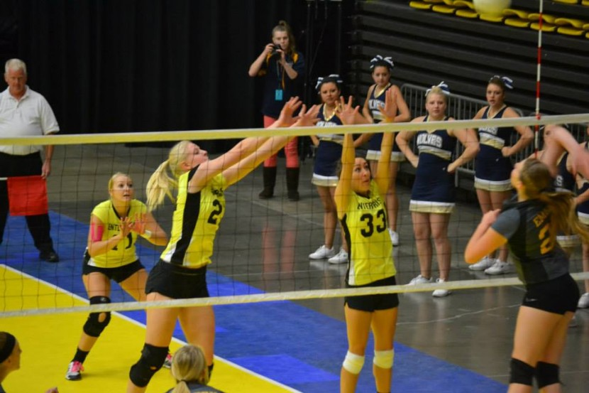 EHS Volleyball: Lady Wolves Take First Strike Against Emery
