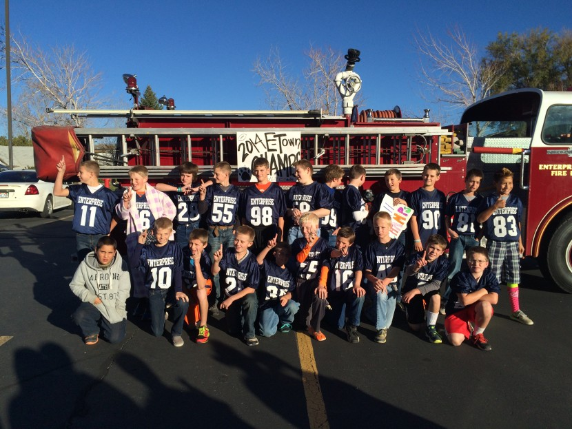 5-6 Grade Football Champs Fire Truck Ride