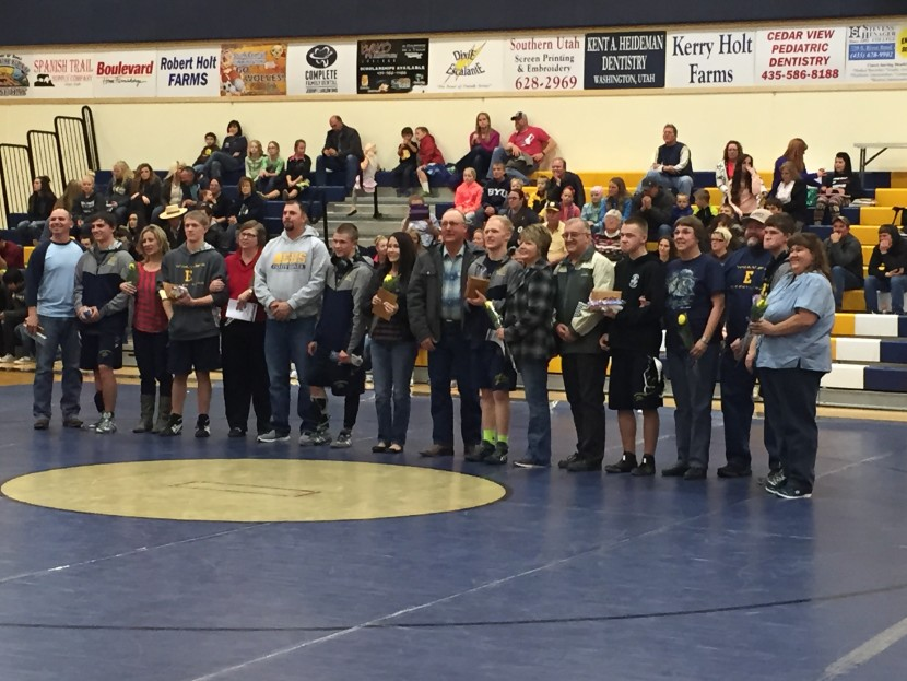 EHS Wrestling: Senior Night vs Parowan
