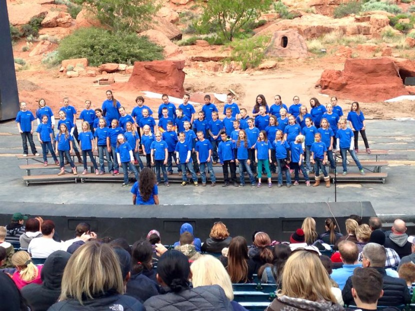 Enterprise Choir Students Perform at Tuacahn