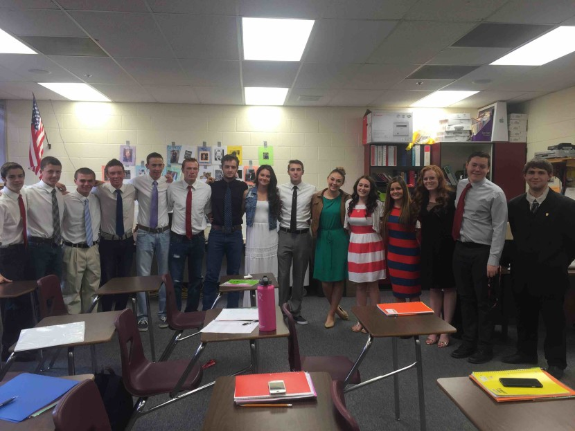 Enterprise Students Show Respect For Teachers Loss