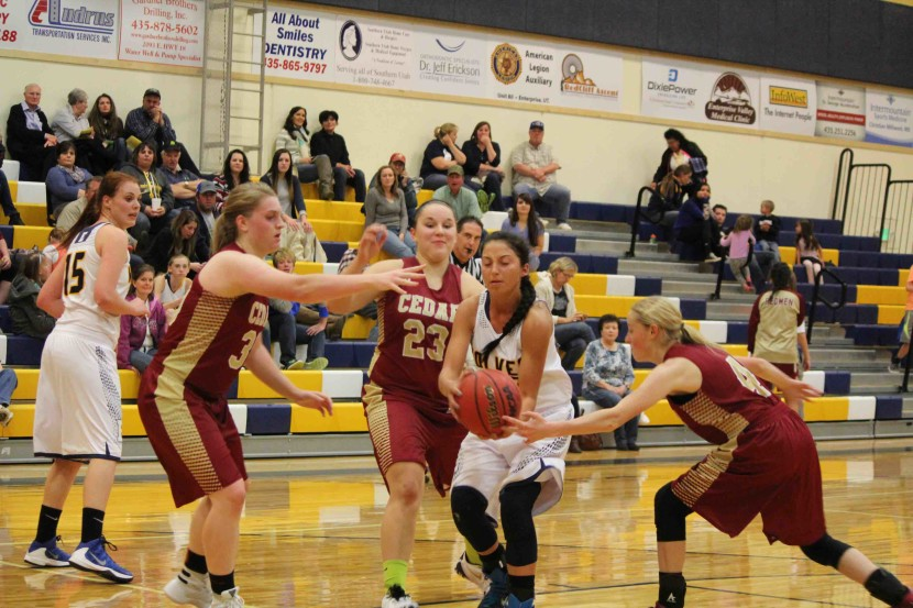 Enterprise High Girls Basketball Fall To Cedar