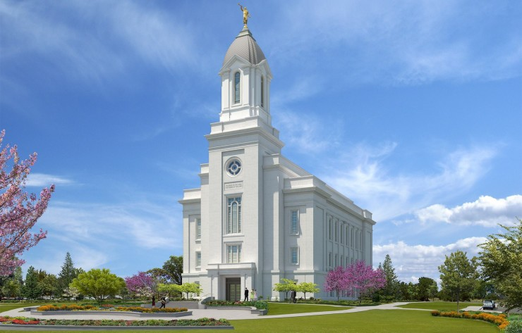 Rendering of the Cedar City Utah Temple. Photo by Intellectual Reserve, Inc.