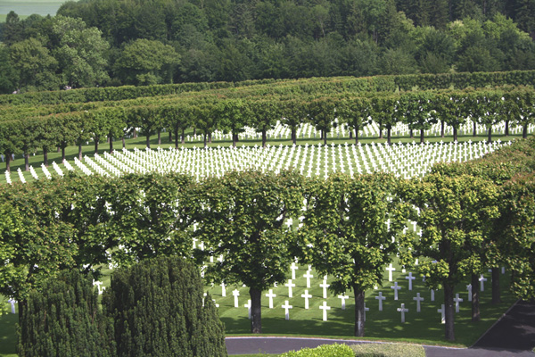 The Meuse Argonne American Cemetery in France. Photo credit: http://www.americanbattlegraves.com