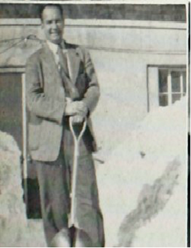 Shoveling snow - 1952 Enterprise High School yearbook