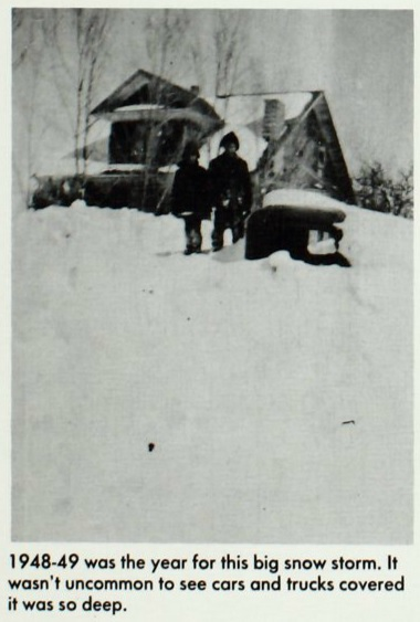 Big snow of 1948-49 found in the 1977 Enterprise High School yearbook