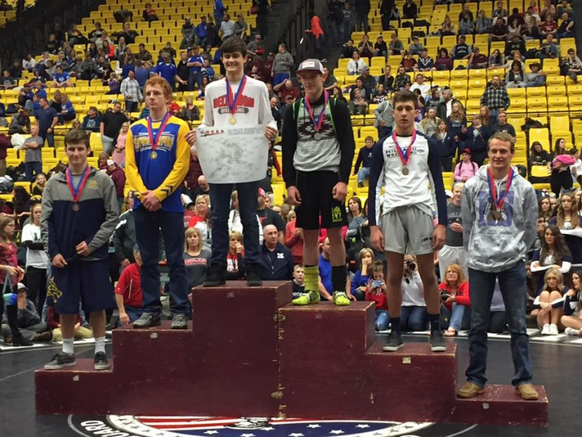 EHS Has 3 Prevail at 2A State Wrestling