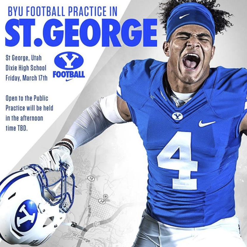 BYU Football Coming to St. George (March 17)