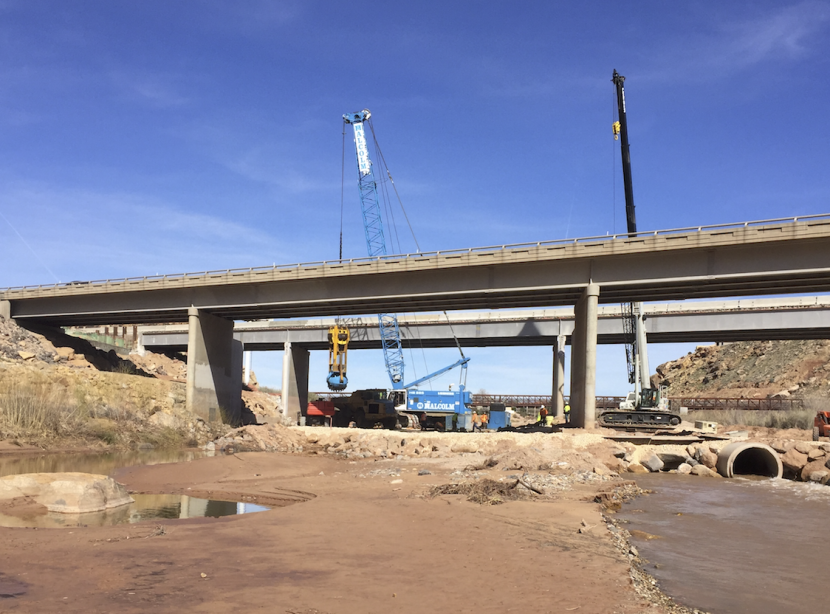 Virgin River Closed at UDOT Work Zone