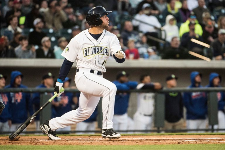 Tim Tebow Hit a Two-run Home Run In His First At-bat In Minor Leagues