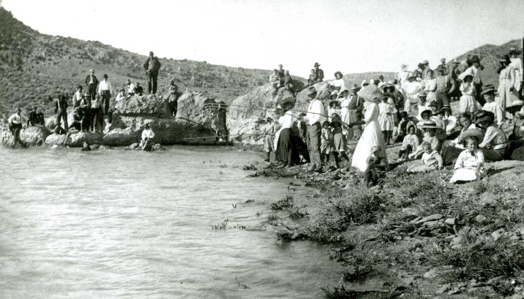 People fishing at the Enterprise Reservoir, date unknown PC: Washington County Historical Society