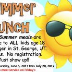 Washington County School District free summer lunch