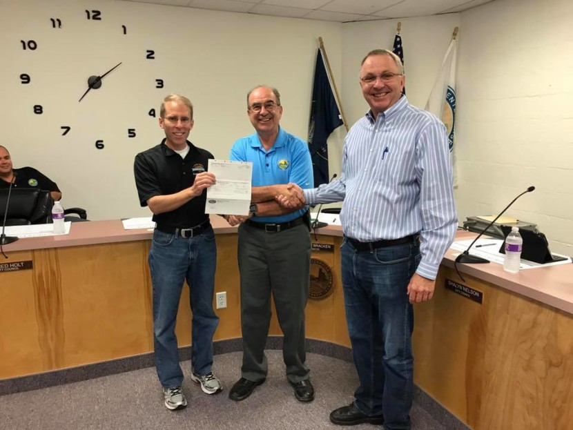 Washington County Presents $200,000 Check to Enterprise City