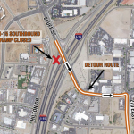 I-15 closure in St George Utah