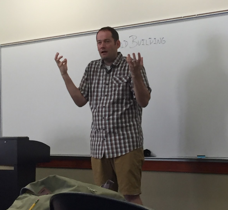 Brandon Mull gets excited about world building.