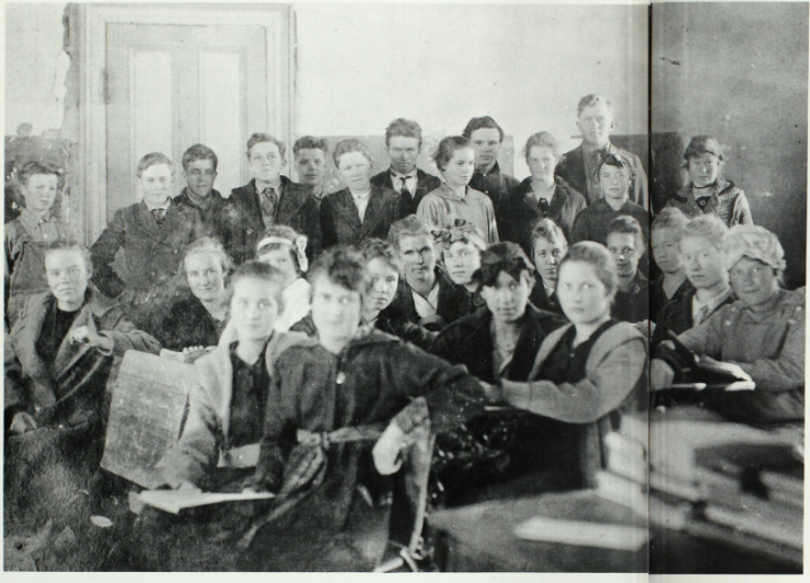 Enterprise School room - date unknown Photo Credit: FamilySearch.org
