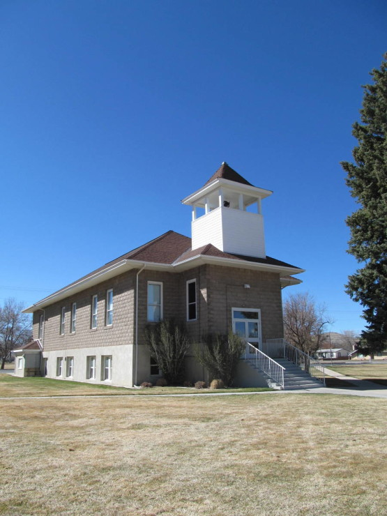 Completed late in 1913, the Heritage Hall was used for both church and school until the Enterprise School was built in 1922.